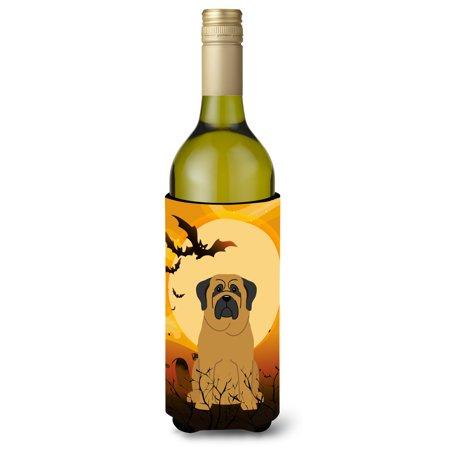 Halloween Mastiff Wine Bottle Beverge Insulator Hugger BB4284LITERK (Wine Bottle Halloween Crafts)