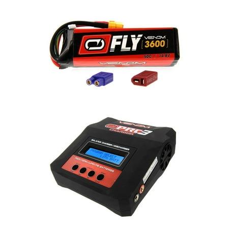 Venom Fly 50C 4S 3600Mah 14 8V Lipo Battery With Uni 2 0 Plug And Venom Pro Charger 3 Lipo And Nimh Battery Charger Money Saving Combo