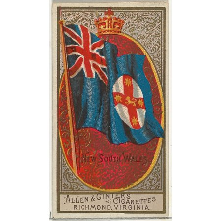 New South Wales from Flags of All Nations Series 2 (N10) for Allen & Ginter Cigarettes Brands Poster Print (18 x 24)