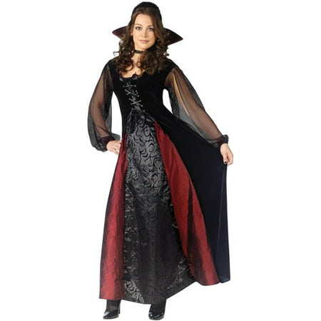 Goth Maiden Vampire Adult Halloween Costume (Girl Halloween Vampire Makeup)