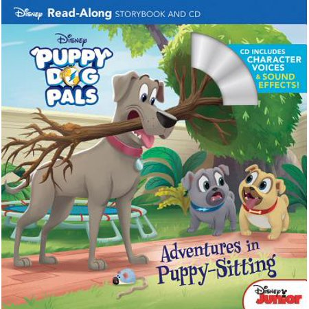 Puppy Dog Pals Read-Along Storybook and CD Adventures in Puppy-Sitting - Halloween Read Along Stories