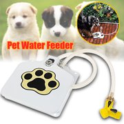 "Dog Pet Water Fountain Step-On Fresh Cold Drinking Water Doggie Fountain with 41"" Hose"