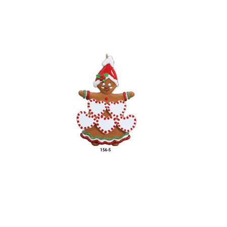 Sweet Gingerbread 5 Personalized Christmas Ornament