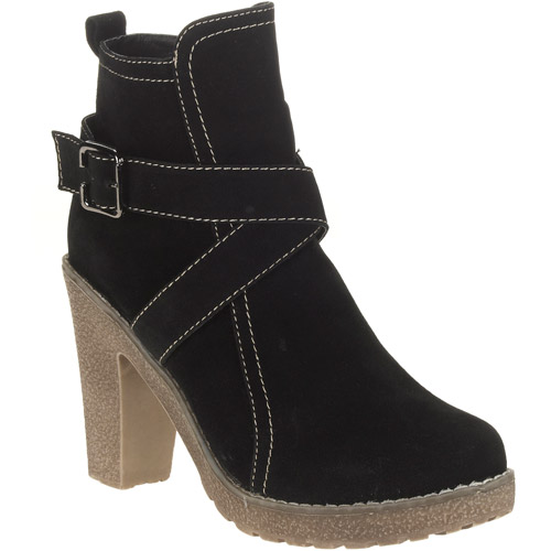 Women's Faux Suede Wrap Around Strap Ankle Booties