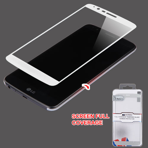For LG Stylo 3 Plus LS777 Full Coverage Tempered Glass Screen Protector Guard