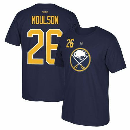 Matt Moulson Reebok Buffalo Sabres Premier Player Jersey Navy Blue T-Shirt Men