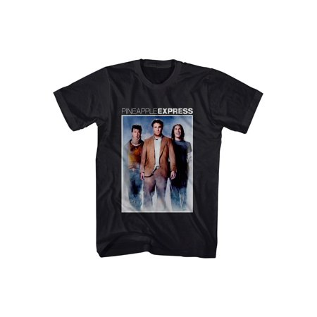 Pineapple Express Movie Color Cast Poster Rogen Franco Adult T-Shirt Tee - Express Shirt Sizes