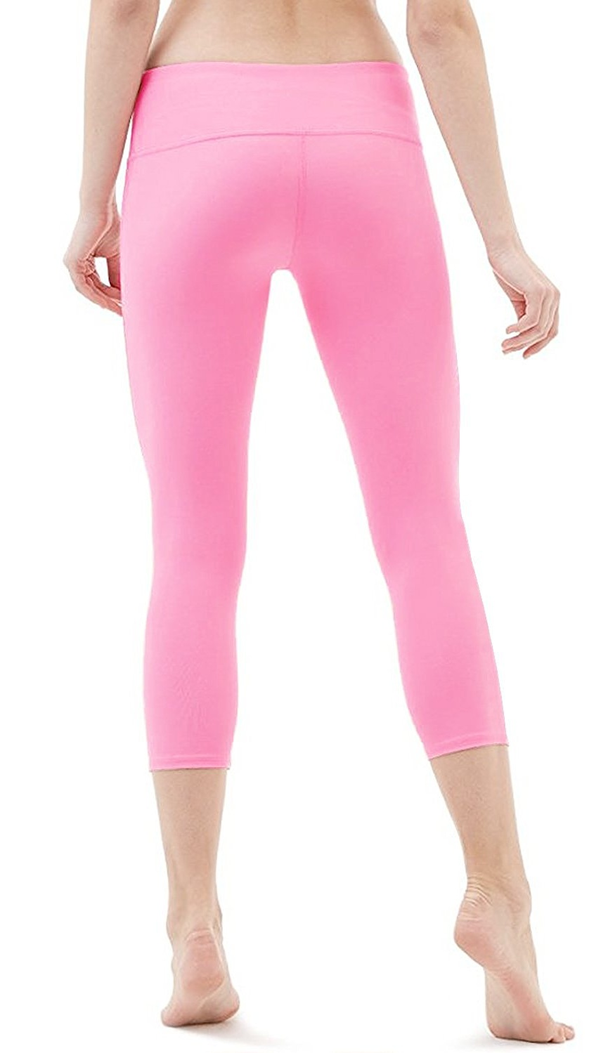 e72656eadf Camellias Corsets - Camellias Womens Yoga Capri Leggings Stretchy Workout  Pants Running Tights With Hidden Pocket Pink