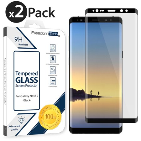2-PACK For Samsung Galaxy Note 9 Tempered Glass Screen Protector, Afflux 3D Curved FULL COVER Screen Protector Glass FOR SAMSUNG GALAXY NOTE 9, 100% HD Clear, Anti-Scratch, 9H Hardness,