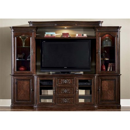 Liberty Furniture Andalusia Entertainment Center with Piers in Cherry