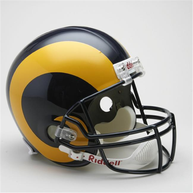 Creative Sports RD-RAMSTB-R81-99Yellow Los Angeles-St.  Louis Rams 1981-1999 Throwback Riddell Full Size Deluxe Replica