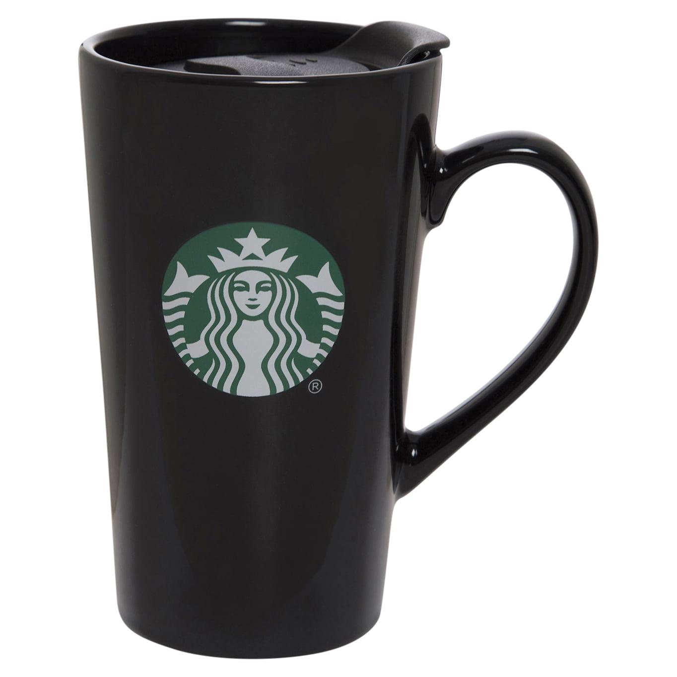 Starbucks 14oz Ceramic Latte Mug Black