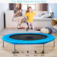 """enyopro 45"""" Mini Exercise Trampoline for Adults Kids, Home Mini Rebounder, Foldable Sports Trampoline with Safety Pad, Great for Body Fitness Training, Supports Up To 180 Lbs, B095"""