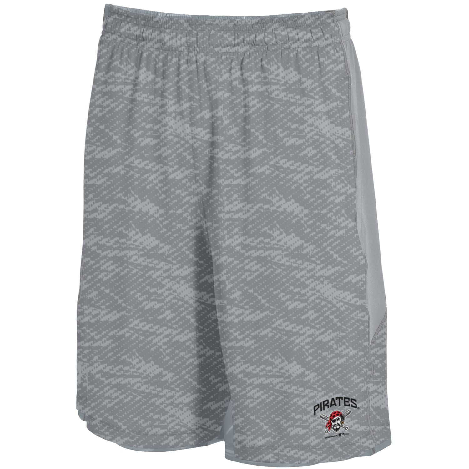 Pittsburgh Pirates Under Armour Raid Novelty Shorts - Steel
