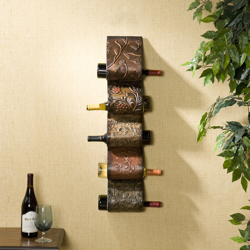 Wildon Home  Dunbridge 5 Bottle Wall Mount Wine Rack