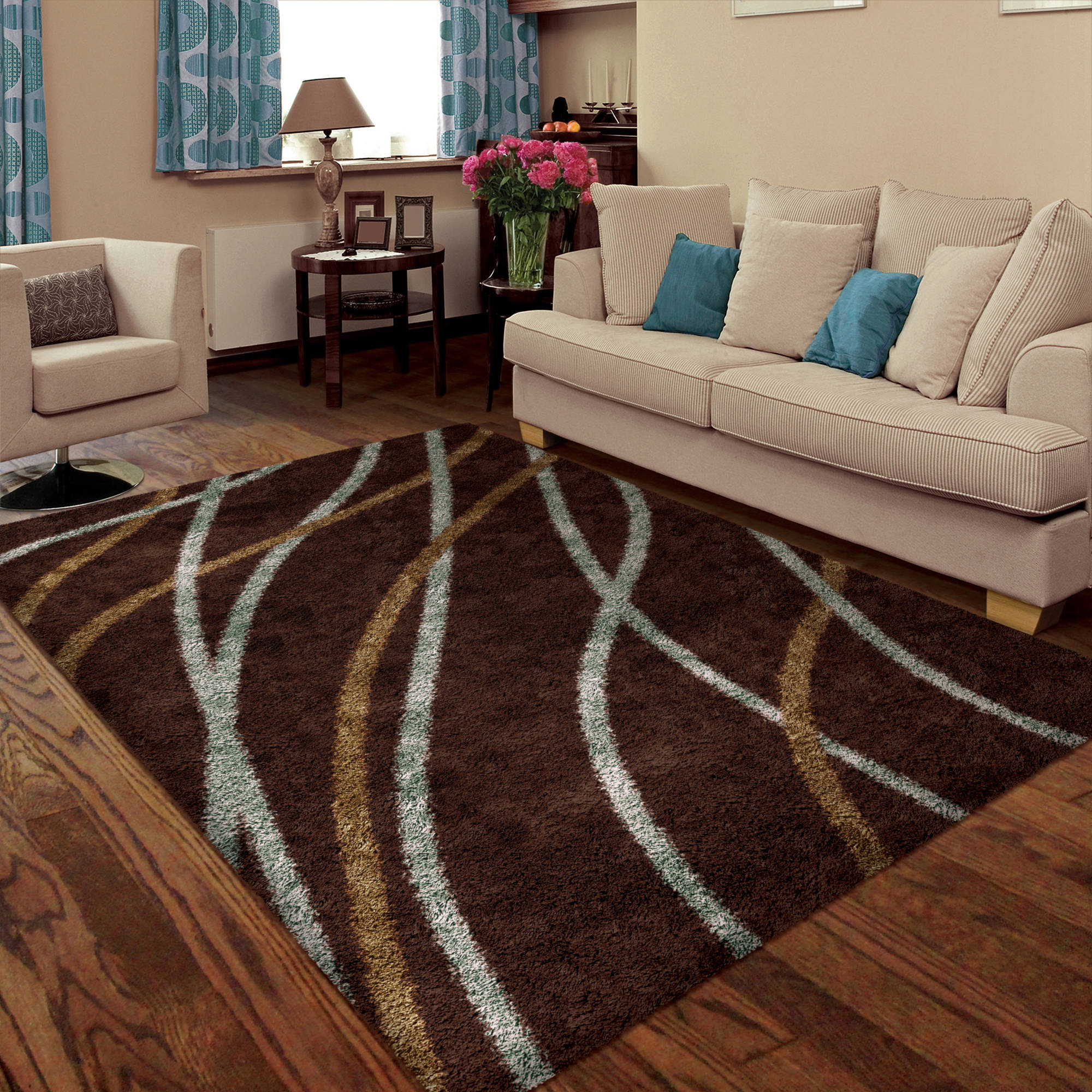 Orian Liberty Woven Shag Area Rug Available In Multiple Colors And Sizes