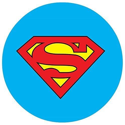 "Superman Logo Edible Image Photo 8"" Round Cake Topper Sheet Personalized Custom Customized Birthday Party"