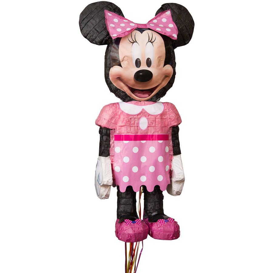 Disney Minnie Mouse Pinata, Shaped Pull String