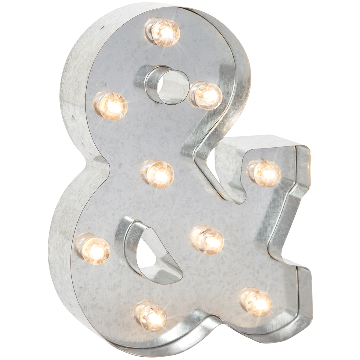 "Silver Metal Marquee Symbol 9.875""-& (Ampersand)"