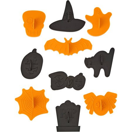 Wilton Halloween Shapes Cookie Cutter Set, 10-Piece - Simple Halloween Shapes