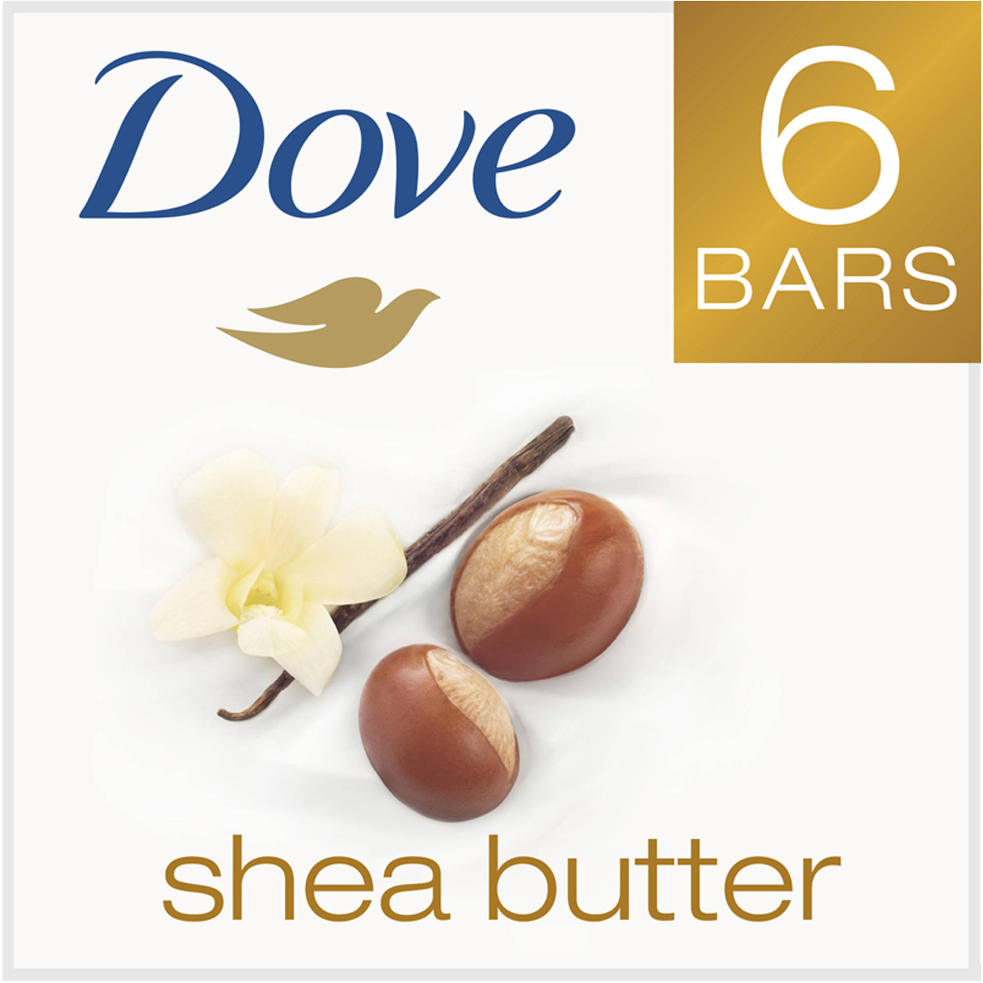 Dove Purely Pampering Shea Butter Beauty Bar, 4 oz, 6 Bar