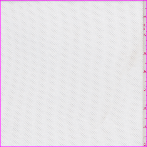 Cloud White Fleece Back Stretch Mesh, Fabric By the Yard