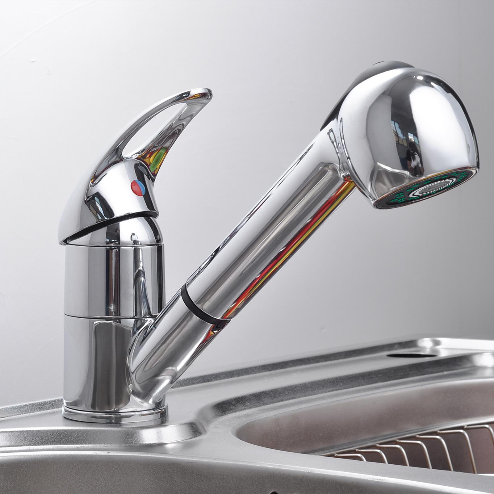 Leano Kitchen Sink Faucet Single Handle Bathroom Copper Swivel