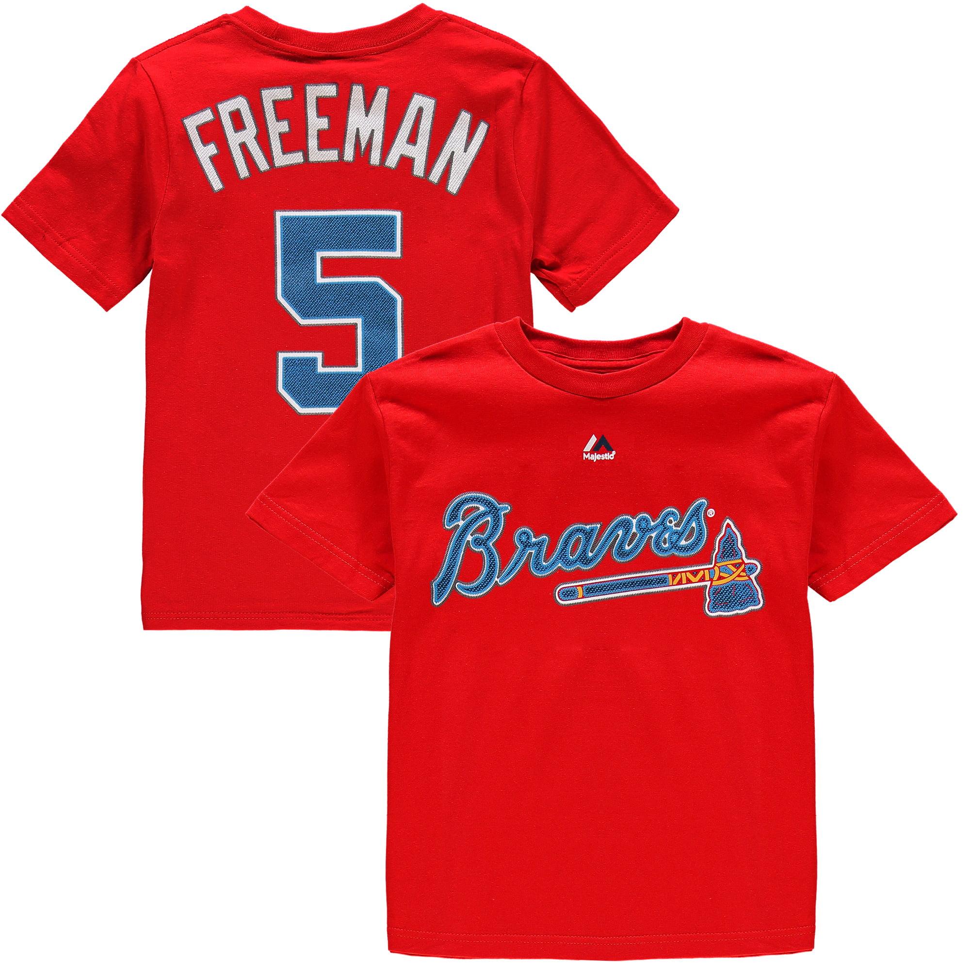 Freddie Freeman Atlanta Braves Majestic Youth Player Name & Number T-Shirt - Red