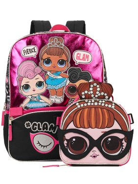 Lol Glam Life Backpack With Lunch Bag