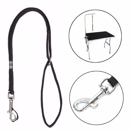 20.5'' Dog Pet Cat Animal Noose Loop Lock Clip Rope For Grooming Table Arm Bath Black - Black Cat Halloween Clip Art