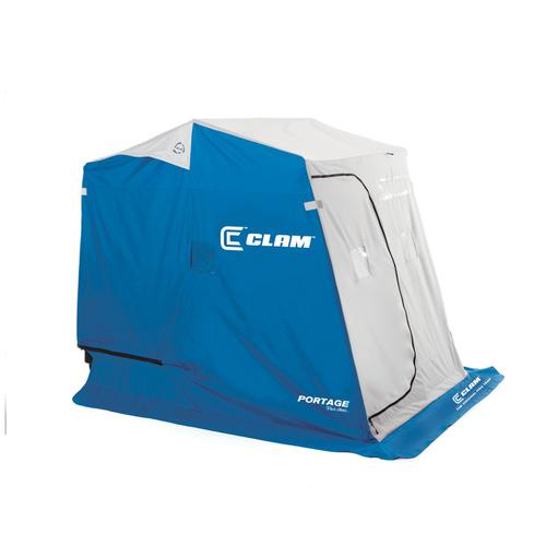Clam Outdoor Ice Fishing 9940 Fish Trap & Fish Trap X Series Shelters Portage by Clam Outdoors