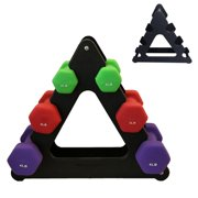 Fysho Weight Lifting Dumbbell 3-Tier Tree Rack Stand Holder Organizer Gym Home Fitness Exercise Accessories