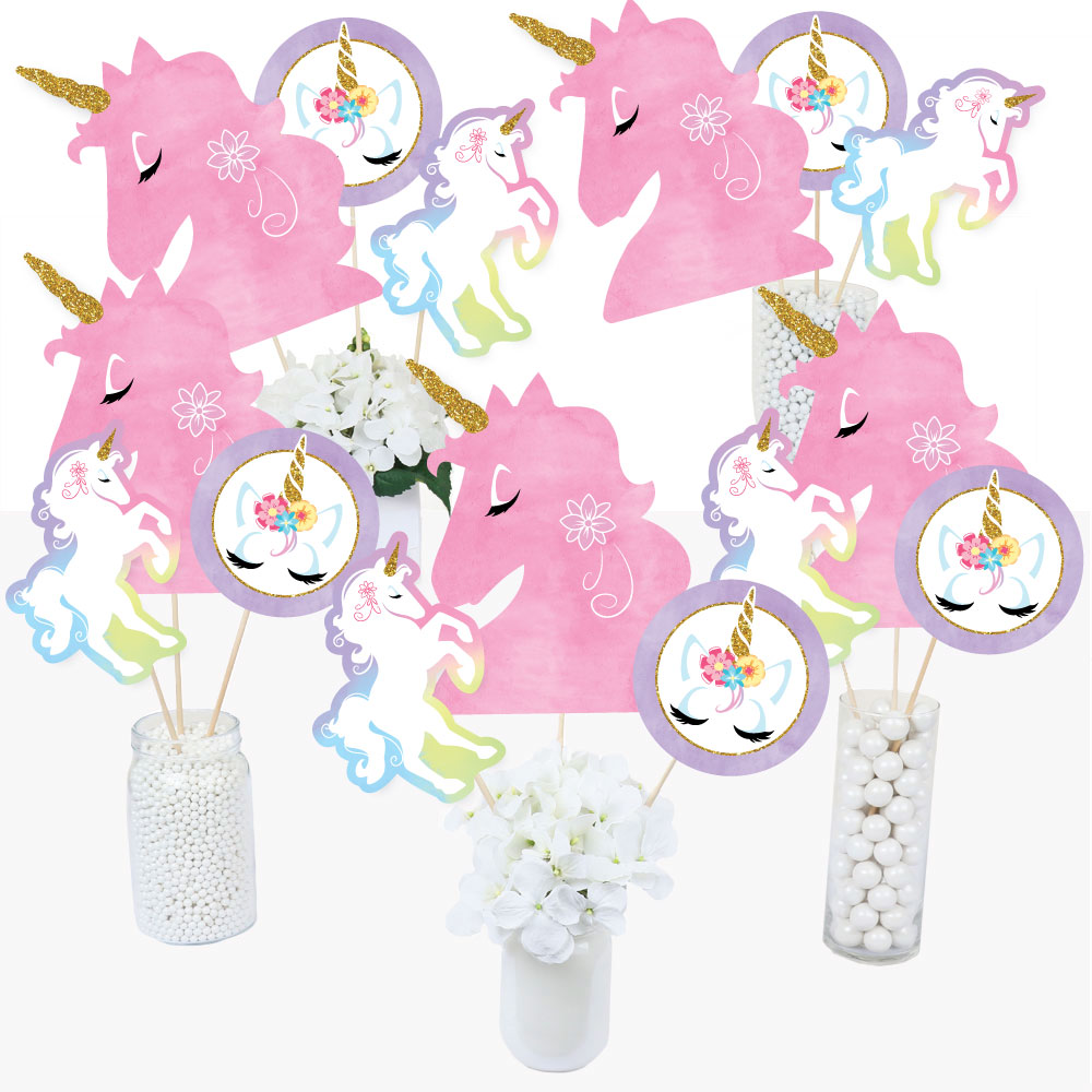 Unicorn Centerpiece  set of 4 cutouts