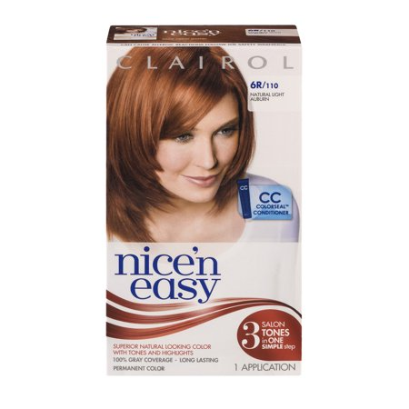 clairol nice 39 n easy permanent color 6r 110 natural light. Black Bedroom Furniture Sets. Home Design Ideas