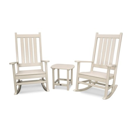 Phenomenal Polywood Vineyard 3 Piece Outdoor Rocking Chair Set Sand Caraccident5 Cool Chair Designs And Ideas Caraccident5Info