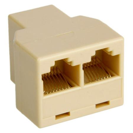 Zimtown RJ45 CAT 5 6 LAN Ethernet Splitter Connector Adapter PC