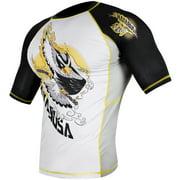 Hayabusa Ninja Falcon Short Sleeve Rashguard - Black/White