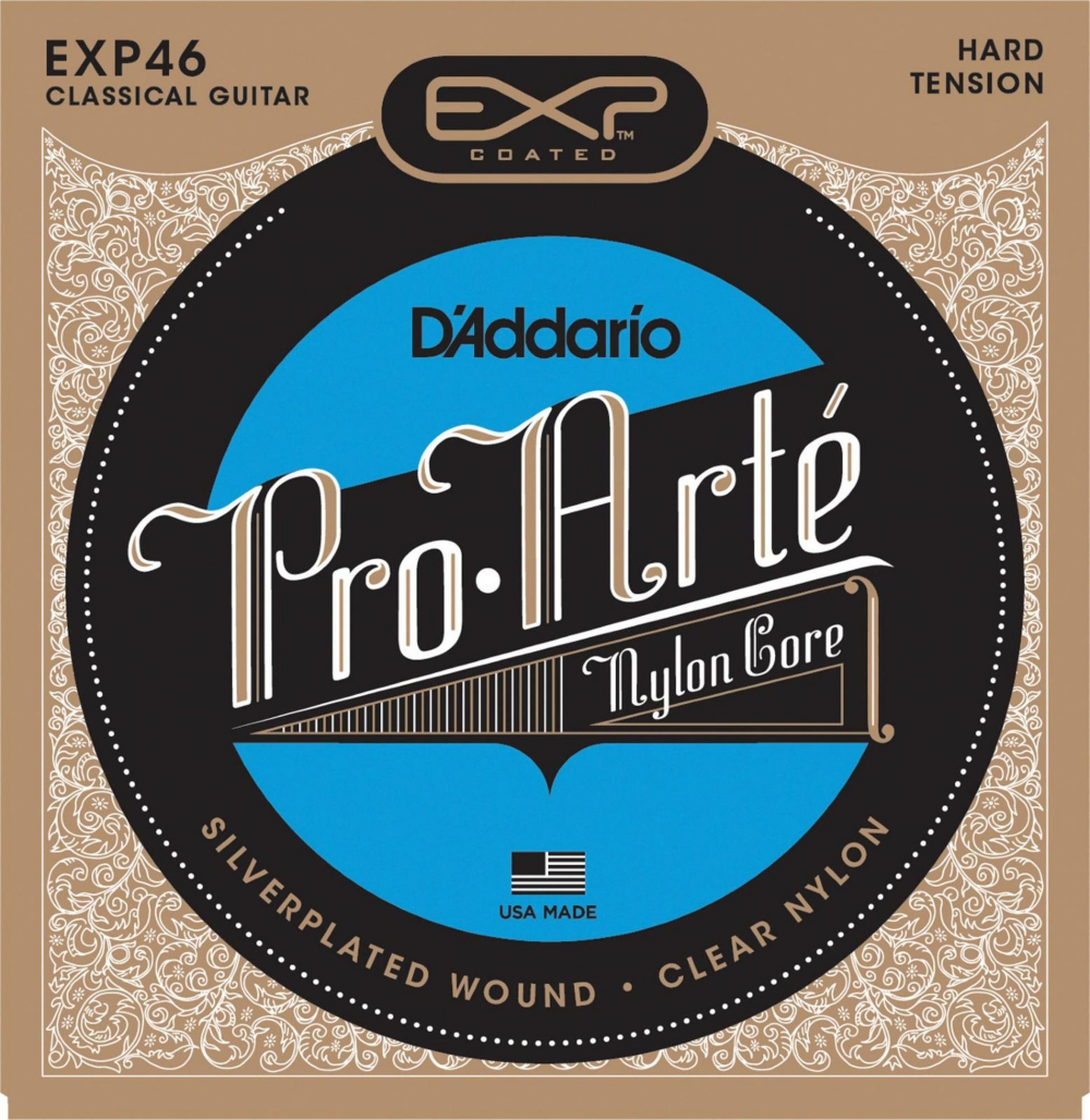 D'Addario EXP46 Coated Hard Classical Guitar Strings by D'Addario
