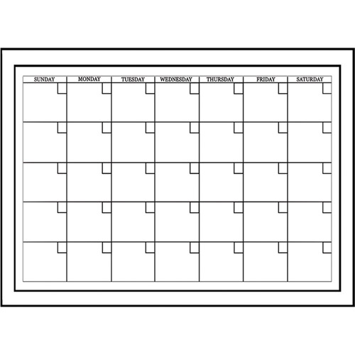 whiteboard dry erase monthly calendar decal image 2 of 2 - Dry Erase Calendar