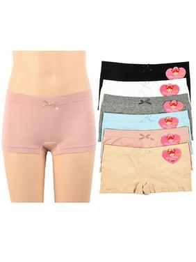3a8e7ab6529 Product Image 6 Pc Girls Panties Boy Shorts Cute Underwear Panty Stretch  Kids Sizes S/M