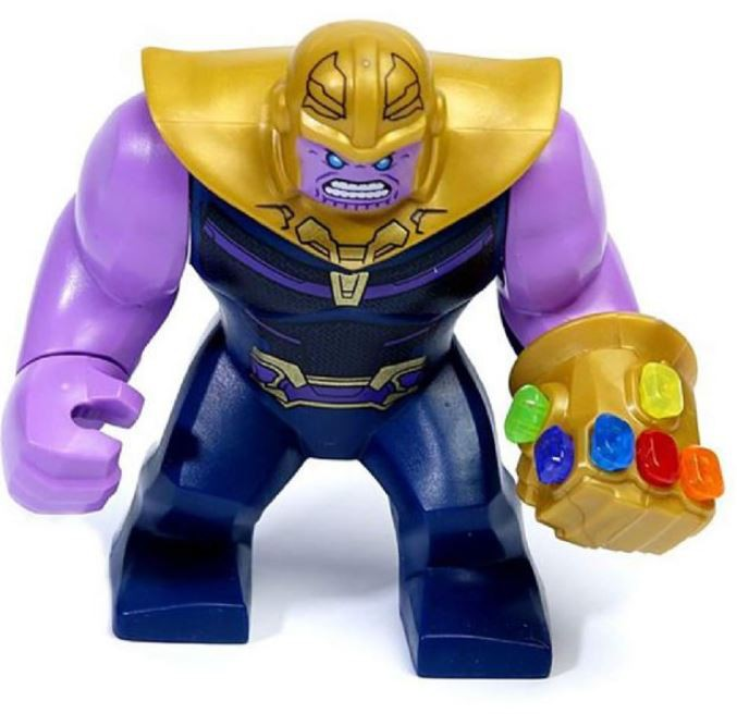 LEGO Marvel Avengers: Infinity War Thanos Minifigure [with Complete Infinity Gauntlet] [No Packaging]
