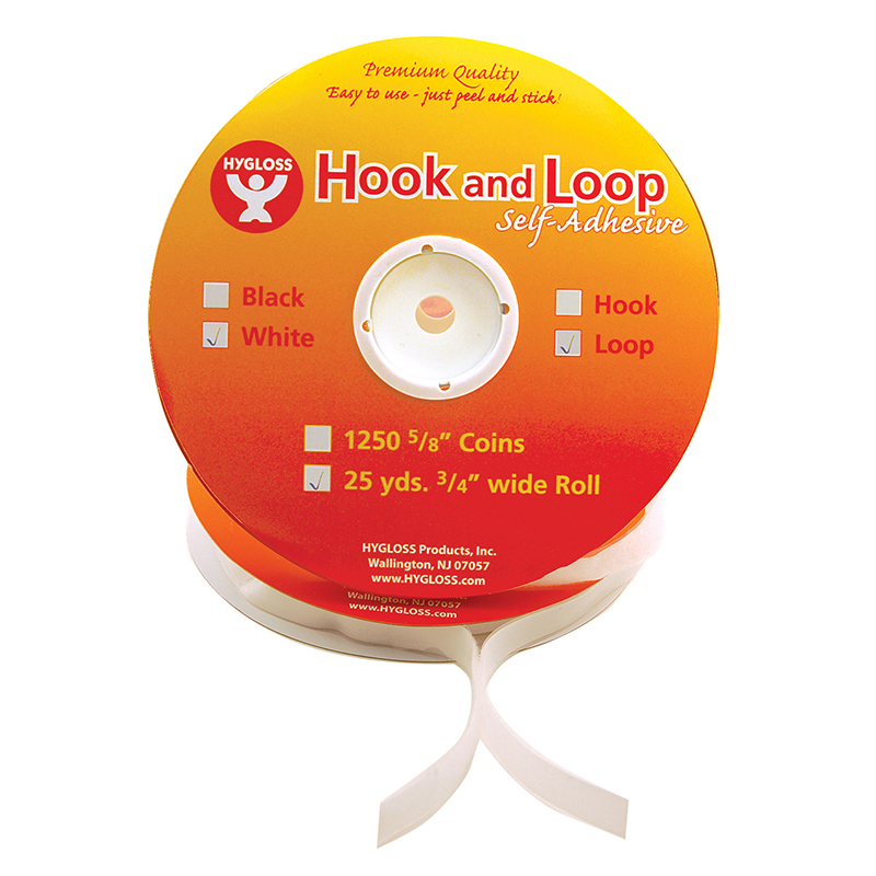 HOOK & LOOP FASTENER ROLL 3/4 X 25 YARDS