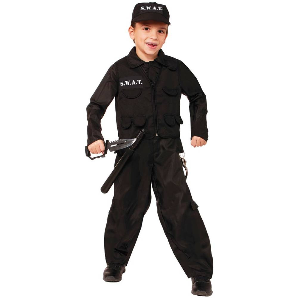 SWAT Police Kids Costume