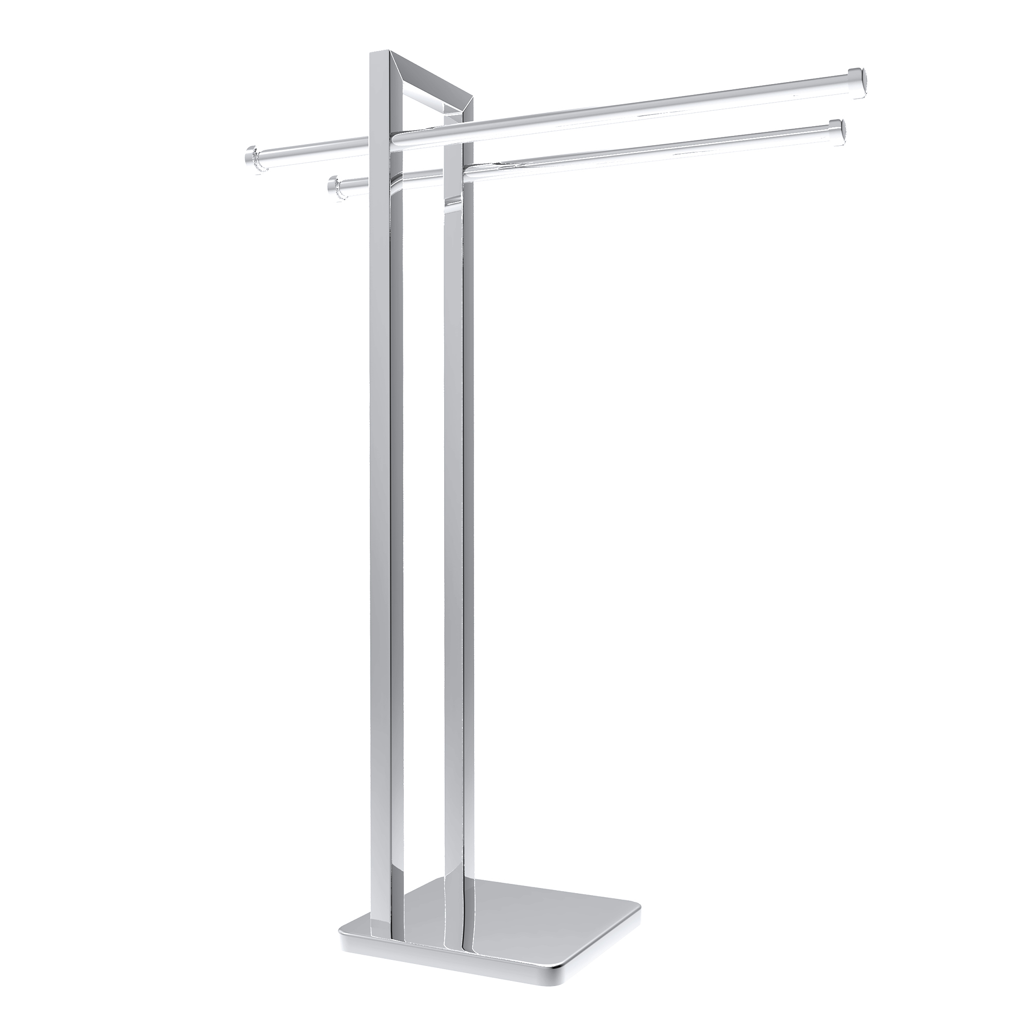 Freestanding Towel Rack   Stainless Steel Holder Stand For Towels With  Double Hanging Bar For Bathroom