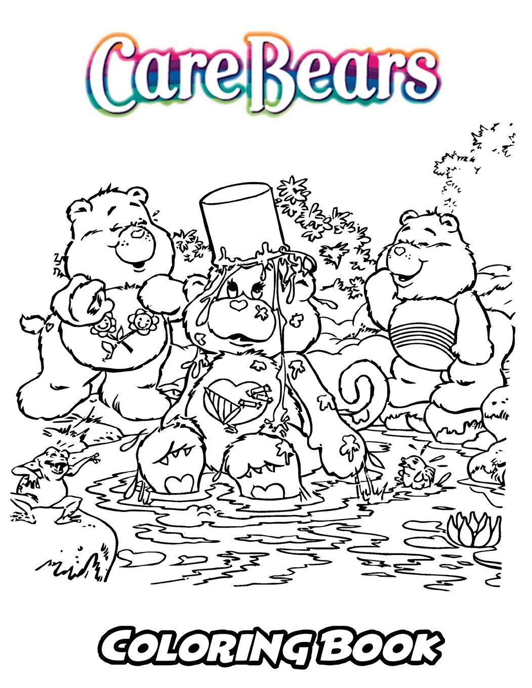 Perfect For Children Ages 3-5, 6-8, 8-12+: Care Bears Coloring
