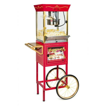Nostalgia CCP610 Vintage 10-Ounce Professional Popcorn & Concession Cart - 59 Inches - Pop Corn Machine