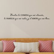Belvedere Designs LLC Bendice Comida Familia Amor Spanisih Wall Quotes  Decal