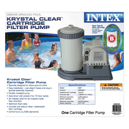 Intex Adapter B w/Collar (Pair) + 2500 GPH Filter + 6 Type B Replacement Filter - image 8 of 12