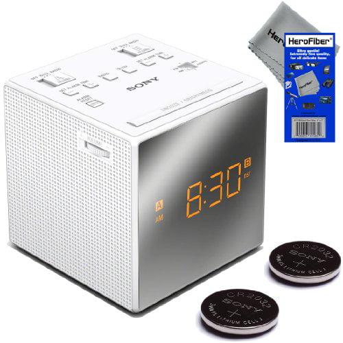Sony Dual Alarm Clock with Extendable Snooze, AM/FM Radio...