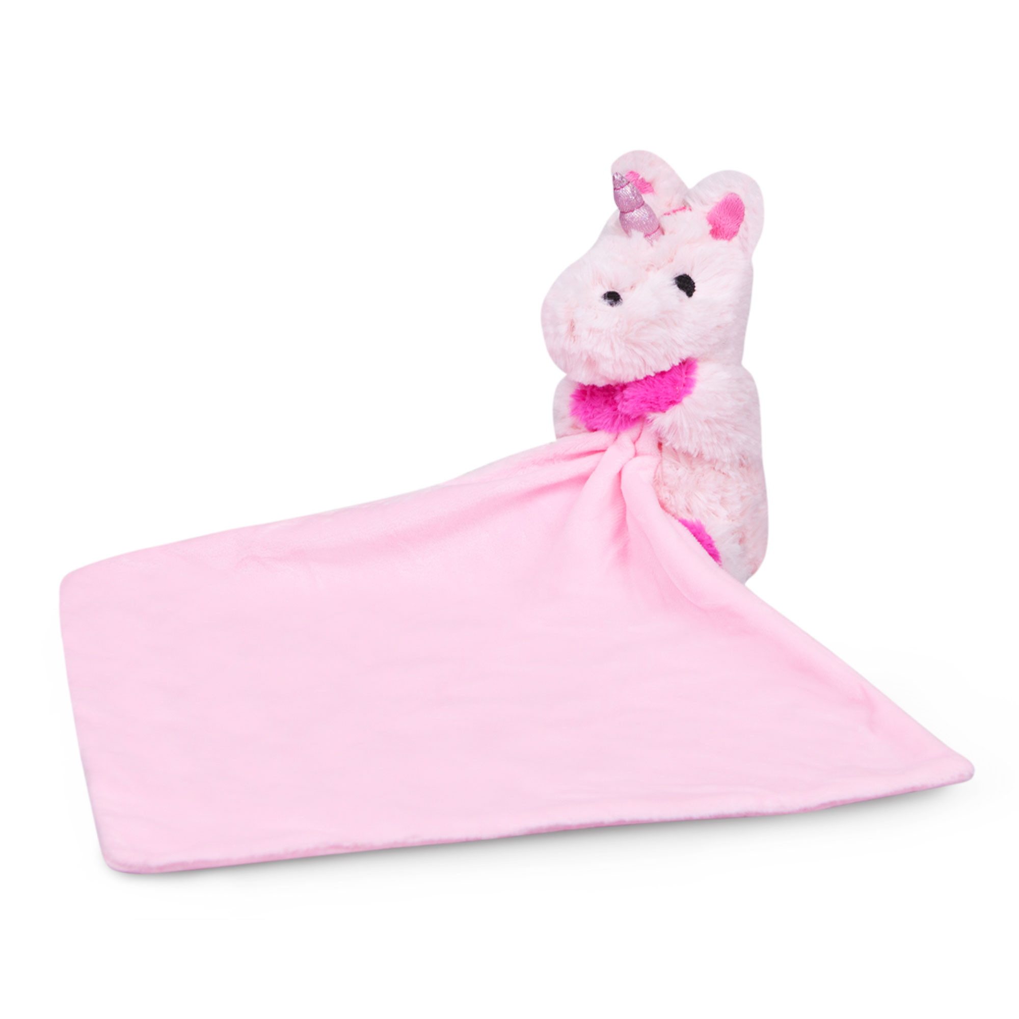Waddle Pink Unicorn Baby Blanket Newborn Gift Plush Toy Stuffed Animal Rattle by Waddle and Friends